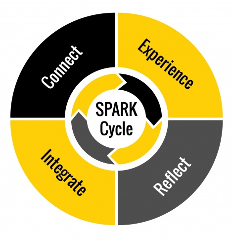 Spark Cycle: Connect, Experience, Reflect, Integrate