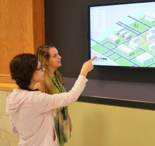 Students Viewing Digital Signage